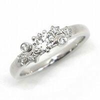 【3%OFFクーポン発行中】シャネルリングコメットダムールPT950ダイヤモンド0.26ct(E/VVS1/EX)8.5号/#49【中古】