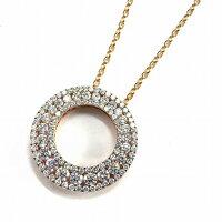 クイーンネックレスK18PGダイヤモンド1.60ct【中古】