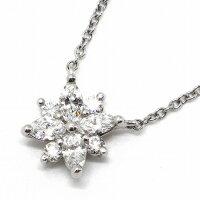 ティファニーネックレスヴィクトリアクラスターPT950ダイヤモンド【中古】