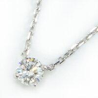 カルティエネックレス1895ソリテールK18WG1ポイントダイヤモンド(G/VVS1/3EX)【中古】