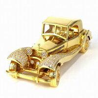 【ダイヤモンド】レプリカベンツモチーフクラシックカーK18YGダイヤモンド25.77ct434g【中古】