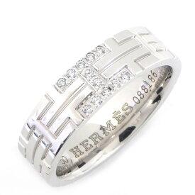 【限界価格に挑戦!!さらにお得なクーポン配布中】 エルメス リング キリム K18WG ダイヤモンド 9.5号【中古】