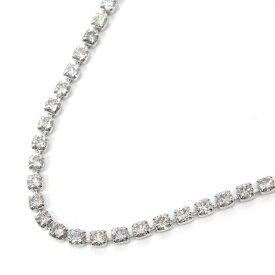 【ダイヤモンド】 テニスネックレス 56.0cm ダイヤモンド 10.03ct PT850 粒揃い 均一 爪留め 【中古】