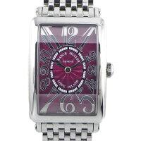 フランクミュラーFRANCKMULLER腕時計ロングアイランドレリーフ952QZRELパープルギョーシェ文字盤パープル文字盤SSクオーツアナログ【中古】