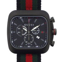 グッチGUCCI腕時計クーペクロノ131.2シェリーラインカレンダークロノグラフブラック黒文字盤SSクオーツアナログ【中古】