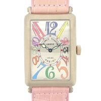 フランクミュラーFRANCKMULLER腕時計ロングアイランドカラードリーム1000SCBRマルチカラーシルバー文字盤K18WGピンククロコダイルレザーベルト自動巻き【中古】