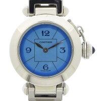 カルティエCartier腕時計ミスパシャW31400241周年記念日本限定ブルー文字盤SSクオーツアナログ【中古】