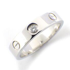 カルティエ Cartier リング ミニラブリング 1ポイント ダイヤモンド 0.02ct K18WG 10.5号 / #51 【中古】