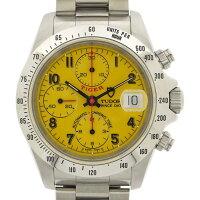 チューダー(チュードル)TUDOR腕時計クロノタイムタイガー79280タキメーターベゼルカレンダークロノグラフタキメーターイエロー文字盤SS自動巻き【中古】