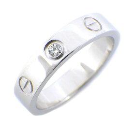 カルティエ Cartier リング ミニラブリング 1ポイント ダイヤモンド 0.02ct K18WG 9号 / #49 【中古】