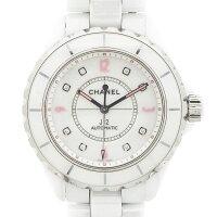シャネルCHANEL腕時計J12H48648ポイントダイヤインデックス世界限定1200本モデルホワイト白文字盤ダイヤモンドホワイトセラミック白自動巻き【中古】