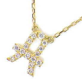 アーカー AHKAH ネックレス イニシャル A ダイヤモンド 0.07ct K18YG 【中古】