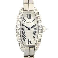カルティエCartier腕時計ブレスレットミニトノーラニエールWJ2004W3シルバー文字盤ダイヤベゼルK18WGクオーツアナログ【中古】