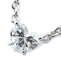 カルティエCartierネックレスラブサポートハートソリティアソリテール1ポイントダイヤモンド約0.70ctK18WG【中古】