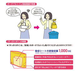 【すっきりポイ】ポータブルトイレ用処理袋30枚入り