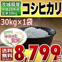 【平成28年】茨城県産 キラッと玄米 コシヒカリ 30kg【送料無料】【異物除去調整済玄米】【通常発送】