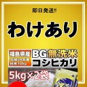 【わけあり】 【6/16精米】【BG無洗米】福島県産 白米 コシヒカリ 10kg(5kg×2) 28年産 【送料無料】【期日指定不可】【即日発送】