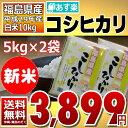 ((新米)) コシヒカリ 5kg×2袋 白米 10kg 福島県 29年産 送料無料 あす楽_土曜営業【20日までの限定特価】