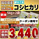 ((新米)) コシヒカリ 5kg×2袋 白米 10kg 福島県 29年産 送料無料 あす楽_土曜営業【10月限定特価】