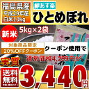 ひとめぼれ 5kg×2袋 白米 10kg 福島県 29年産 送料無料 あす楽_土曜営業
