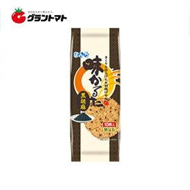 【1ケース】ぼんち 味かるた 黒胡麻 (10枚×10個入り)【同梱不可】【送料無料】