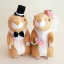 珍しいプレリードッグのウェルカムドール ウェディングドール 結婚式の人形 ぬいぐるみ ウェルカムドールで受付を可愛く演出|ウエルカムドール プレリードッグ 高砂...