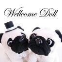 ウェルカムドール ウェルカムドック(パグ)結婚式 ぬいぐるみ 高砂 受付 フォトスペース ドリンクスペース|あす楽対応|