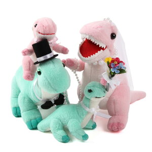 【仲良しファミリーシリーズ】 ウェルカムドール 鬼嫁恐竜親子 3体セット 恐竜 ファミリー 家族