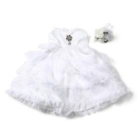 ぬいぐるみドレス ホワイト ウエディングドレスセット 結婚式 ぬいぐるみ コスチューム 衣装 ドレス 受付 ウェルカムスペース フォトブース 高砂 ウェディングドレスブライダル  ギフト
