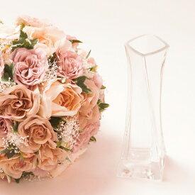 ウェディング資材・結婚式ブーケ・ブーケスタンド ガラス 結婚式 ウェディング ブライダル 資材 インテリア ガラス製 ブーケ ラウンド 収納 ディスプレイ 花 造花 花束 花瓶 瓶 ビン ホルダー スタンド