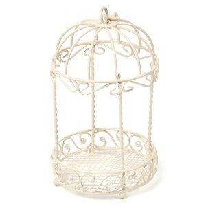 アイアン 鳥かご インテリア バードゲージ(ラウンド・パール付き)円形 ドーム型