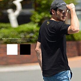 夏服 メンズ クルーネック おしゃれ Tシャツ 半袖 ラウンドカット 大人カジュアル ちょいワル