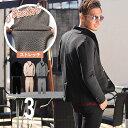 セットアップ メンズ 春 秋 テーラードジャケット カット素材 シェブロン柄 M L XL ちょいワル きれいめ 大人カジュアル 2020新作