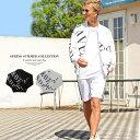 羽織り 夏 薄手メンズ ボンバージャケット 柄 黒 白 ビッグシルエット 2021新作