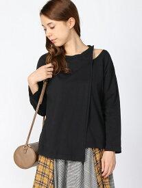[Rakuten Fashion]【SALE/35%OFF】アシメスリットPO8S JEANASiS ジーナシス カットソー Tシャツ ブラック ブラウン ベージュ【RBA_E】