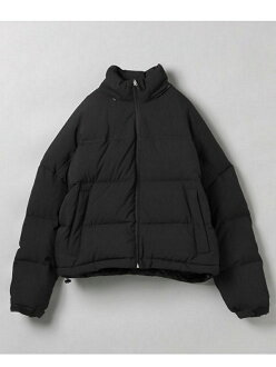 [Rakuten Fashion]big hood IM down JEANASiS Geena cis coat / jacket down jacket black green yellow