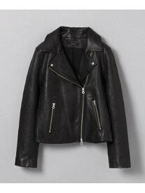 [Rakuten Fashion]W Leather Jacket JEANASiS ジーナシス コート/ジャケット ライダースジャケット/レザージャケット ブラック【送料無料】