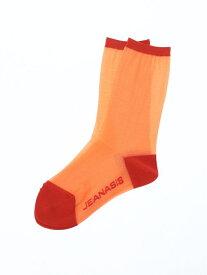 [Rakuten Fashion]【SALE/60%OFF】シアーソックス JEANASiS ジーナシス ファッショングッズ ソックス/靴下 オレンジ グレー ブラック グリーン【RBA_E】