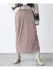 [Rakuten Fashion]クラッシュベロアナローSK JEANASiS ジーナシス スカート ロングスカート ベージュ ブラック ブラウン【送料無料】