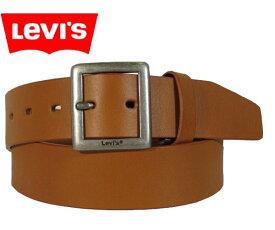 445e71606d2954 LEVI'S(リーバイス) 牛革 四角バックル レザーベルト 7021602303 チャ ブラウン 茶色 キャメル シンプル 牛皮