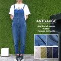 Antgauge【アントゲージ/Ladies/レディース】カラーデニム/テーパード/サロペット(C1457N)オーバーオール/新作/送料無料