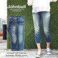 【送料無料】JOHNBULL/セール/SALE/半額(ジョンブル/レディース)VintageSlimSabrinaJeans(ヴィンテージスリムサブリナデニム)濃淡2色綿100%XS/SS/S/M/L【AP836】