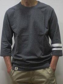 MOMOTARO JEANS 桃太郎ジーンズ 日本製 7分袖Tシャツ 07016 DGY 高級ジンバブエコットン 8.2オンス使用 国産 ダークグレー 送料無料 メンズ あす楽 ポイント プレゼント 人気 おすすめ 桃太郎JEANS