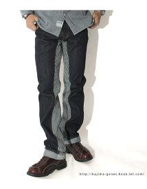 児島ジーンズ 10周年記念限定 日本製 21オンス モンキーコンボ デニムXヒッコリー フロントファスナー レギュラーストレート KG101059 送料無料 世界的に知名度の高い岡山児島産 世田谷ベース アメカジ インディゴ KOJIMA GENES コジマジーンズ