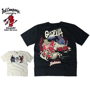 【送料無料】テッドマン Tシャツ TEDMAN Tシャツ 半袖 メンズ トップス TEDMAN GODZILLA ゴジラ テッドマンズ コラボ T-SHIRT エフ商会 TDGZ-100