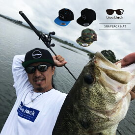 【送料無料】blue.black キャップ 帽子 ブルーブラック キャップ 帽子 ブラックバス バス釣り バスフィッシング アウトドア スナップキャップ ebc-001