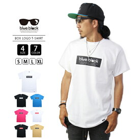 【送料無料】blue.black Tシャツ ブルーブラック Tシャツ BOX LOGO PRINT S/S T-SHIRT 2 メンズ 半袖 プリント バス釣り フィッシング BBT-005