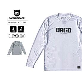 【送料無料】バスブリゲード Tシャツ BASS BRIGADE Tシャツ 長袖 メンズ BRGD LOGO PERFORMANCE L/S TEE バスフィッシング バス釣り ブラックバス アウトドア BLPTLS01