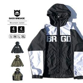 【送料無料】BASS BRIGADE マウンテンジャケット アウター メンズ バスブリゲード マウンテンパーカー BRGD Logo Mountain Jacket ブラックバス バス釣り BLMJ01