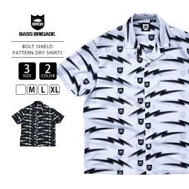 【送料無料】バスブリゲード 半袖シャツ BASS BRIGADE シャツ 半袖 BOLT SHIELD PATTERN DRY SHIRTS バス釣り ブラックバス アウトドア BSOS01